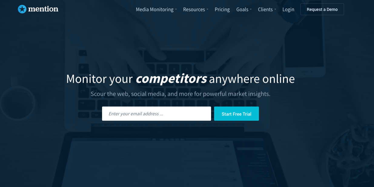 Mention : Monitor your competitor anywhere online