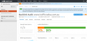 Semrush Backlink Audit : Toxic link and Clean links